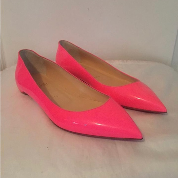 7dbc7fc10500 Christian Louboutin Shoes - Christian Louboutin Pink Pigalle Follies Flats